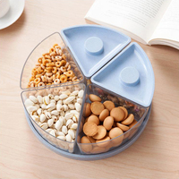 1pc New Arrive Candy Snack Nut Holder Compote Tray Dish Decoration Plate Kitchen Office Storage