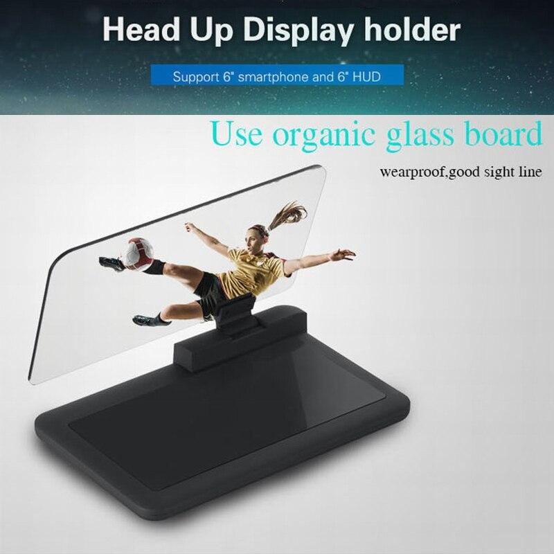 Buy universal h6 car hud holder head up for Miroir projector app