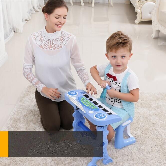 37-key électronique clavier joueur tambours 2 en 1 jouet Piano intérieur enfants jouets pour enfants jouet Instrument de musique apprentissage éducation - 4