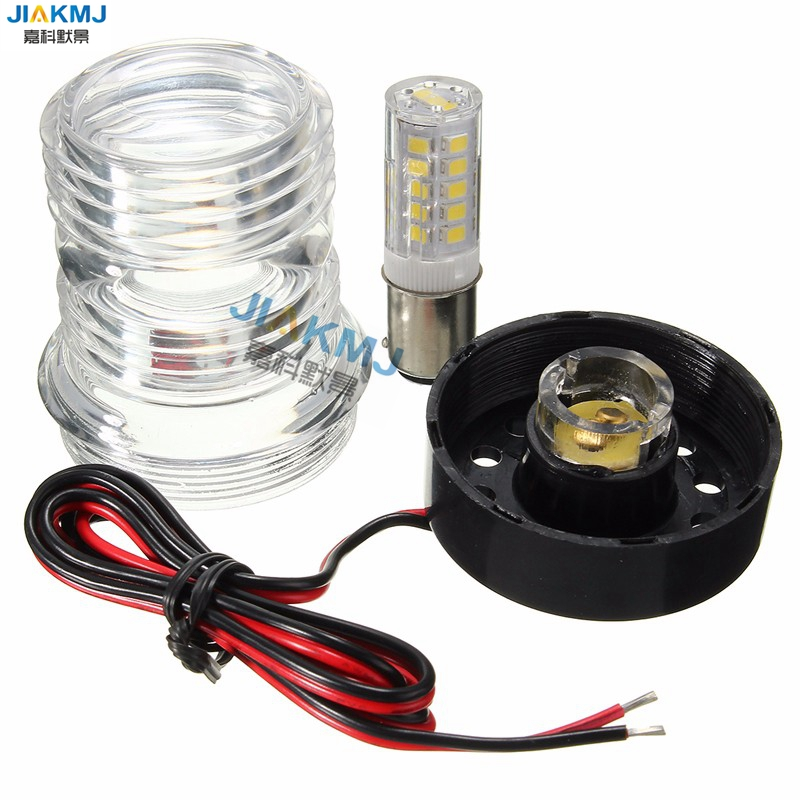 Yacht signal Light DC12V 2.5W 13 SMD 5050 LED Marine Boat Navigation Anchor Light Round 360 Degree Waterproof anchor lights