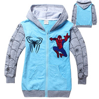2018 Spring And Summer Children S New Sports Sweater Cartoon Spiderman Cotton Long Sleeved Hoodie Boys