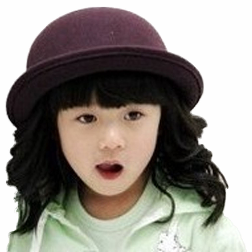 Moeble Baby Hat Bowler 100% Wool Fedoras Hats Girls Wool Cap Round Dome Cap  Top Hat Child Felt Hat Accessories Tide 4pcs BH176 on Aliexpress.com  6cfb9f39779