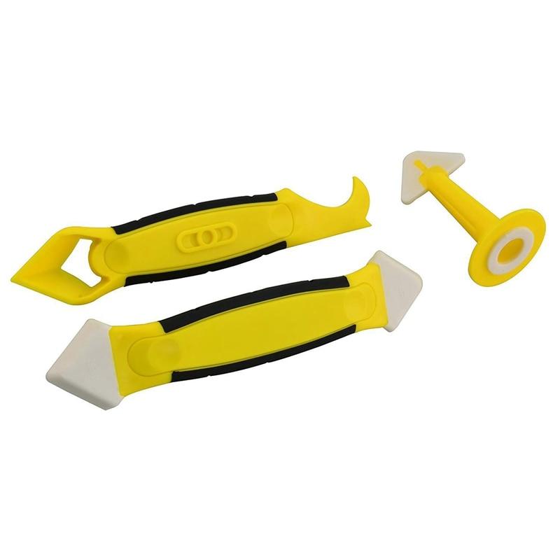 3Pieces Silicone Caulking Tool Set Sealant Replace /& Removal w// Caulk Nozzle