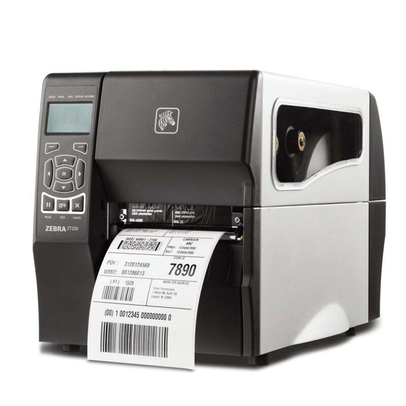 Industrial zebra printer ZT230 barcode sticker printer 200dpi usb serial interface can keep working 24 hours high quality  high quality zt h61d3 100