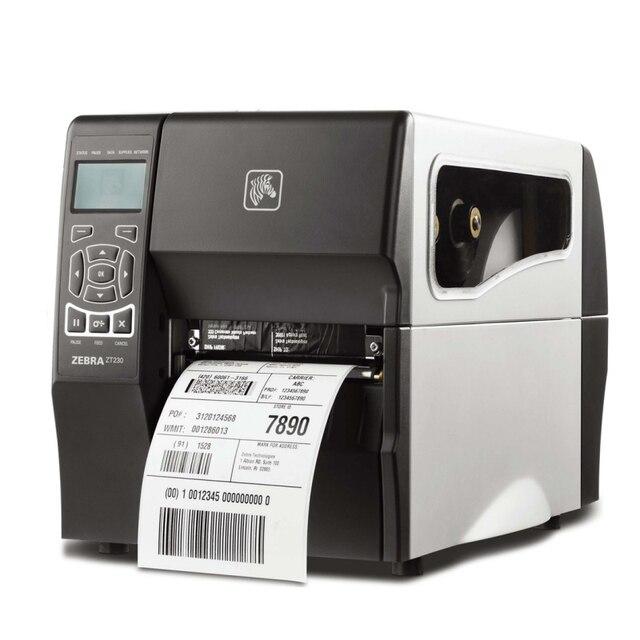 Industrial zebra printer ZT230 barcode sticker printer 200dpi usb serial interface can keep working 24 hours high quality