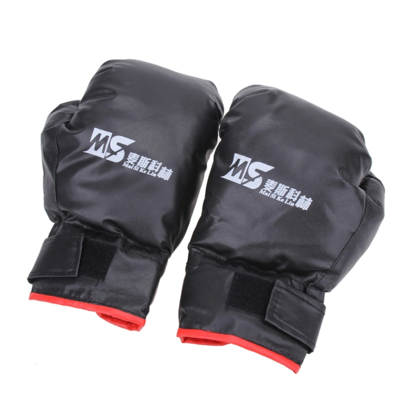 2 style Professional Boxing Gloves MMA Muay Thai Gym Punching Bag Breathable Half/Full Mitt Training Sparring Kick Boxing Gloves 19