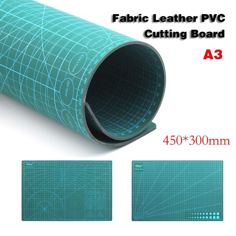 A3 PVC Autorregenerable Cutting Mat Tela Arte de Papel Herramientas de BRICOLAJE de Doble cara de Cuero Tabla De Cortar de Curación