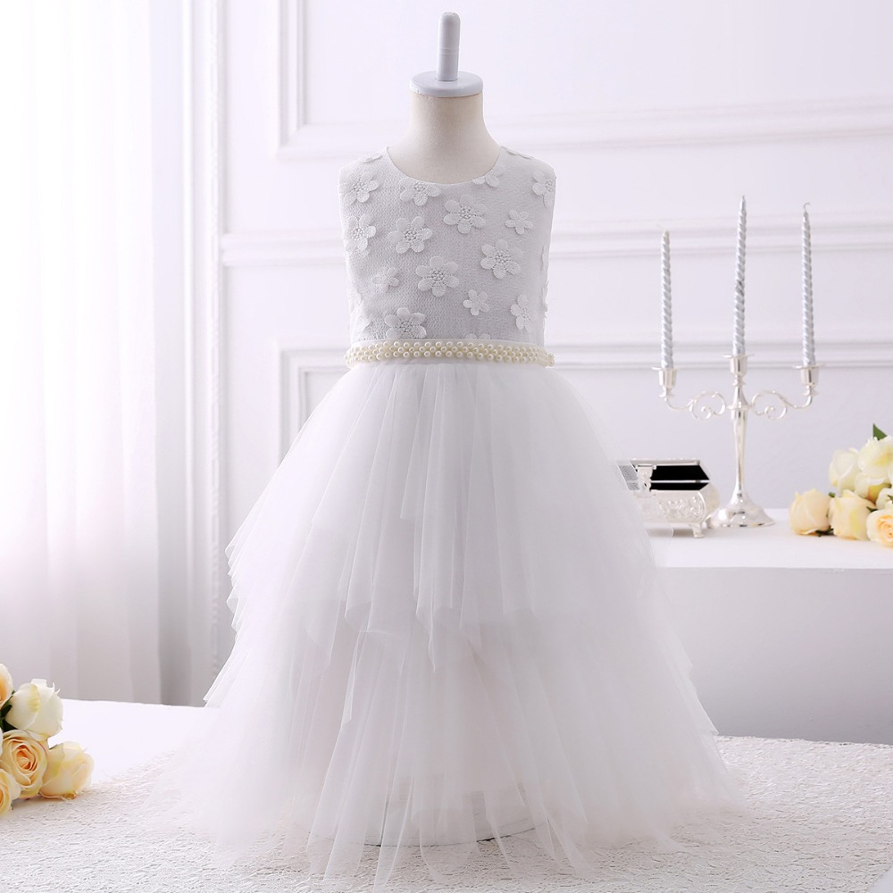 New Hot Girls Tulle Sleeveless O-neck Lace Appliques Ball Gowns Flower Girl Dresses Princess Birthday Party Wedding Gowns HW2108New Hot Girls Tulle Sleeveless O-neck Lace Appliques Ball Gowns Flower Girl Dresses Princess Birthday Party Wedding Gowns HW2108