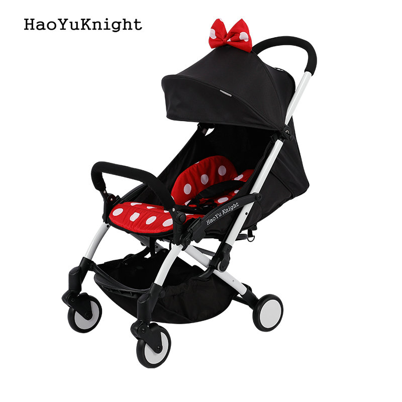 Hao YuKnight baby stroller Ultra-light folding carrier baby carriage shock absorbers stroller baby stroller minnie mickey baby stroller baby stroller shock absorbers light folding stroller 4runner