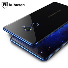 For xiaomi mi mix 2 case Aubusen Plating craft pure TPU material made soft cover Xiaomi mi Mix 2 mix2 cover case