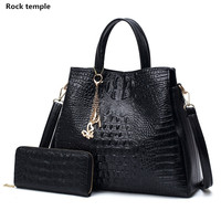 Lady Handbags Fashion Women Single Shoulder Bag Women Crocodile Grain PU Leather Women Messenger Handbag Ladies