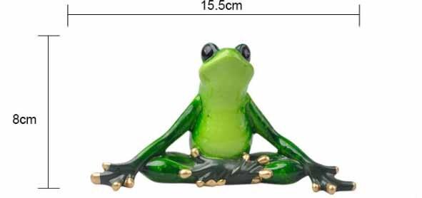 Funny Yoga Frog Figurine 2