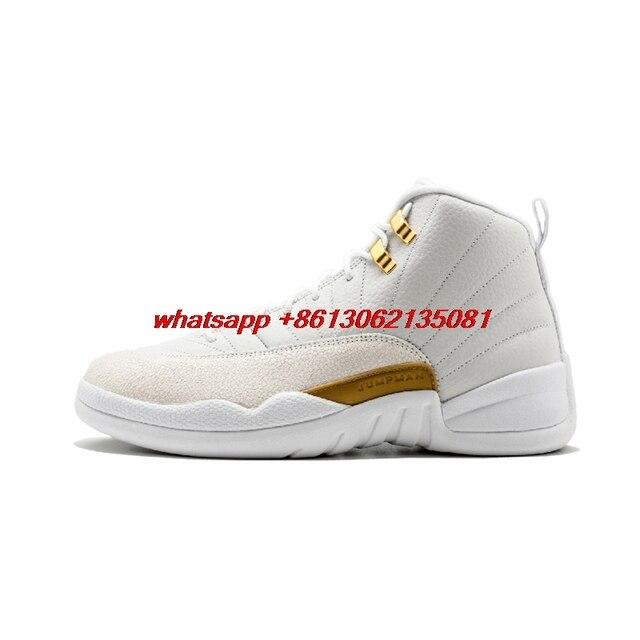 New hot Retro 12 men Basketball shoes Master OVO White Gym Red Dark Grey Taxi Blue Suede Flu Game CNY Hot Sale