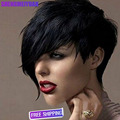Synthetic Short pixie wigs for Women Heat Resistant Short Wig hair for Black Women Cheap Synthetic Hair Pixie Cut Female