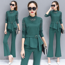 Autumn fashion suits female autumn new dress the aristocratic temperament show thin ma3 jia3 three-piece suit pants