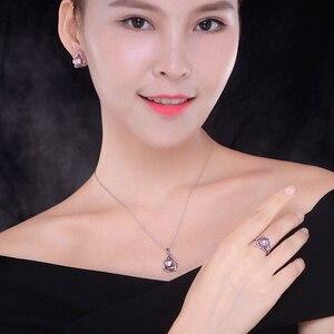 Image 5 - Sinya 925 Anello in argento sterling con 9 10mm dacqua dolce naturale della perla Gioielleria Raffinata di marca di nozze anello di Fidanzamento per le donne amante