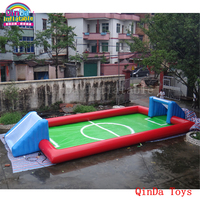 Funny games inflatable beach toys football field ,free air blower inflatable water soap pitch for adults and kids
