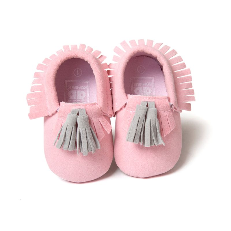 Toddler Baby Infant Unisex Boys Girls Soft PU Leather Tassel Moccasins Girls Bow Moccs Booties Shoes Moccasin Bow shoes