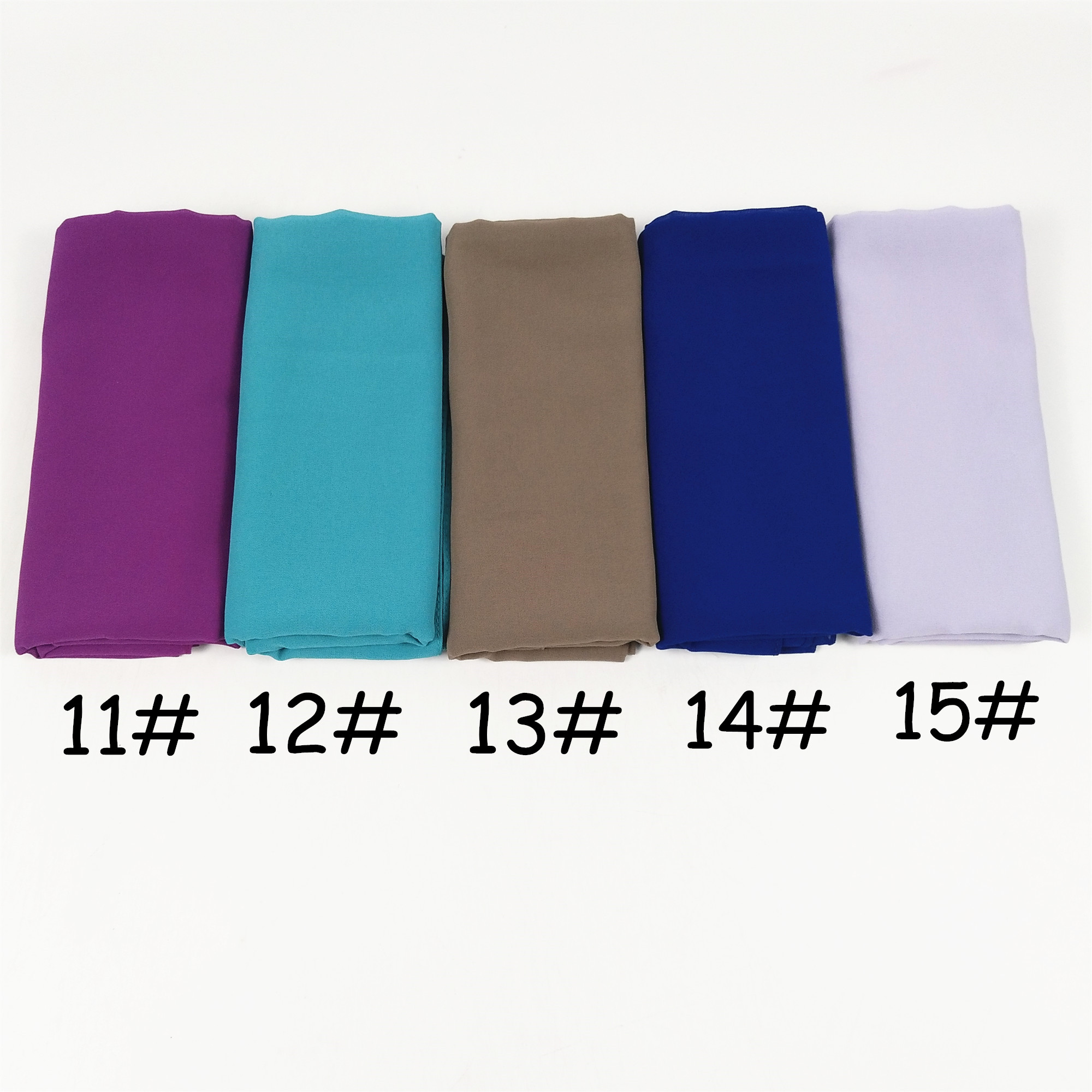 Image 4 - H65 100pcs  top sale bubble chiffon hijab muslim scarf  best  shawl 180*75cm  can choose colors-in Women's Scarves from Apparel Accessories