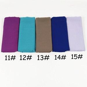 Image 4 - H65 100pcs  top sale bubble chiffon hijab muslim scarf  best  shawl 180*75cm  can choose colors
