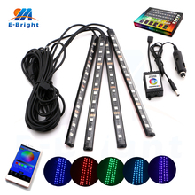 1set APP Control 5050 4x12SMD Waterproof LED Lamp Strip Home Party Car Decorative RGB Colors Changeable 12V