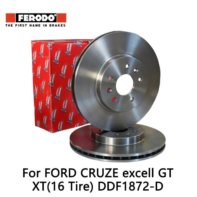 2pieces/set Ferodo Car rear Brake Disc For FORD CRUZE 1.6 1.8 excell GT XT(16 Tire)1.6 1.6T 1.8 DDF1872-D 2pcs lot ferodo car rear brake disc for ford cruze 1 6 1 8 excell gt xt 16 tire 1 6 1 6t 1 8 ddf1872 d