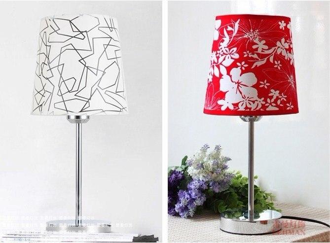 NEW [Dec]white/red Crystal Desk Lamp Light Sconce Lighting Chrome Finish tablelamp red crystal