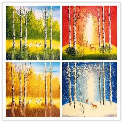 Livraison gratuite printemps t automne hiver for t paysage impressions sur toile de peinture - Printemps ete automne hiver et printemps ...