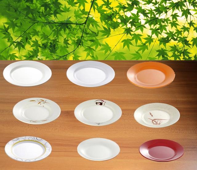 Melamine Dinnerware Dinner Plate Round Flat Dish With Chain Restaurant A5 Melamine Dish Melamine Tableware Sushi & Melamine Dinnerware Dinner Plate Round Flat Dish With Chain ...