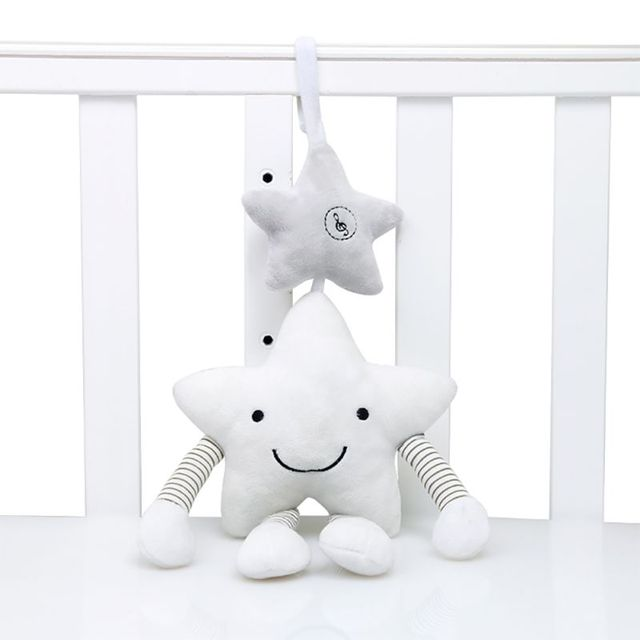 Baby Cartoon Musical Rattles Mobile Plush Doll Toys Newborn Infant Stroller Lathe Crib Bed Hanging Cute Appease Toy