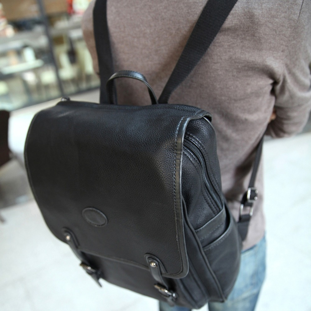 High quality PU leather backpack men business mochila masculina ...