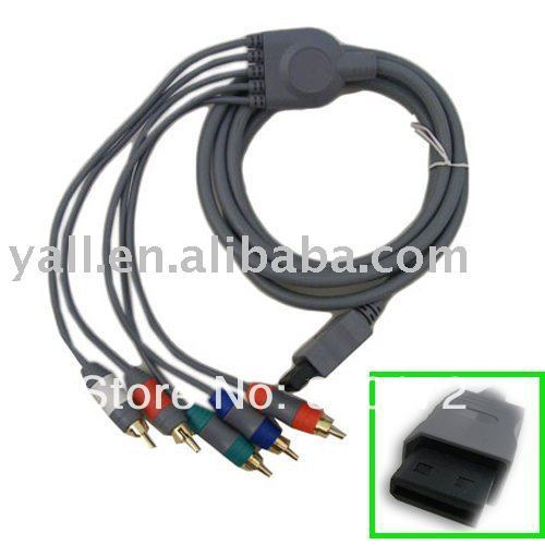 Free shipping Brand New Component HDTV AV High Defini AV Cable For Wii ship from USA-VB401
