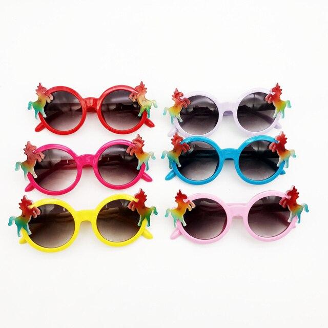 b046b61ed223 12 pairs lot Funny Rainbow Unicorn Party Sunglasses for Kids Birthday  Decoration Christmas Eyewear Party