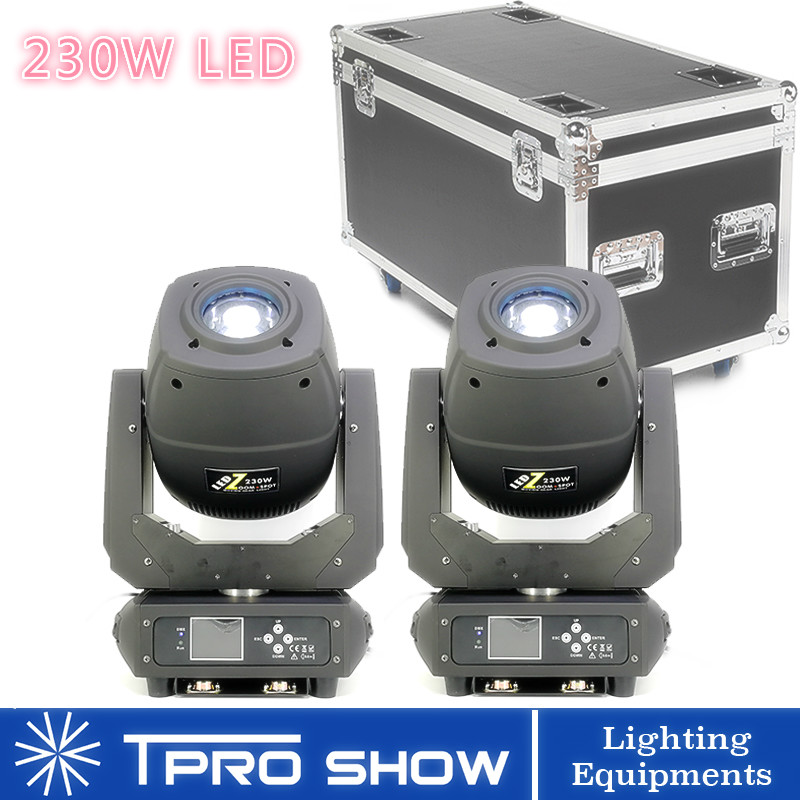 2in1 Flight Case LED Moving Head <font><b>Beam</b></font> <font><b>230</b></font> Lyre <font><b>Beam</b></font> Spot Light Dmx Stage Light Movinghead Dj Lights for Disco/Party/DJ 2pcs 230W image