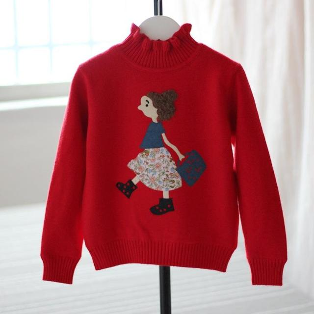 Child wadded jacket female child plus velvet thickening sweater thermal top new year ploughboys kids children girls clothing