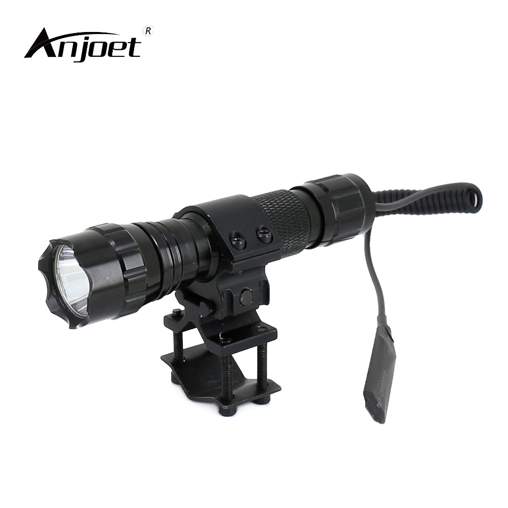 ANJOET 2000 lumen Tactische Zaklamp T6 501B Jacht Rifle Torch Shotgun verlichting Shot Gun Mount + Tactische mount + Remote schakelaar