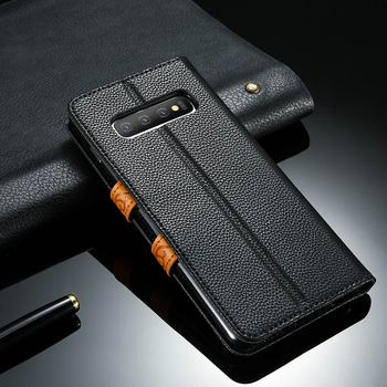Galaxy S10 Plus Case Leather Wallet 1