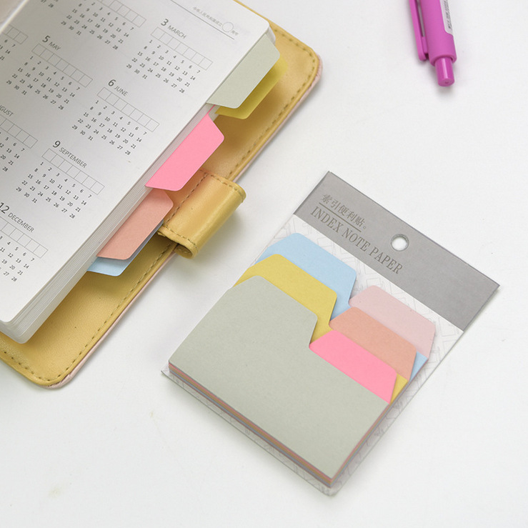 Ningbo Yingtong  Plastic Co., Ltd 6 Colors 90 Sheets Creative Candy Color Index Sticky Note Post it Stationery Memo Pad Office School Supplies