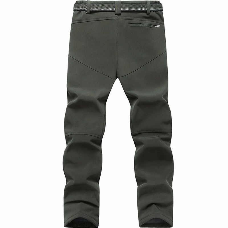 Erkekler Kış sıcak Kargo Pantolon Artı Boyutu Büyük 4XL 5XL 6XL 7XL 8xl 9XL Termal Polar Askeri Pantolon Erkek Ordu yeşil Uzun Pantolon