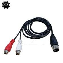 5 Your Jack Din 5P macho a 2RCA hembra Cables macho Pin hembra a RCA hembra P2 Audio del adaptador de Audio 0,5 M 1,5 M