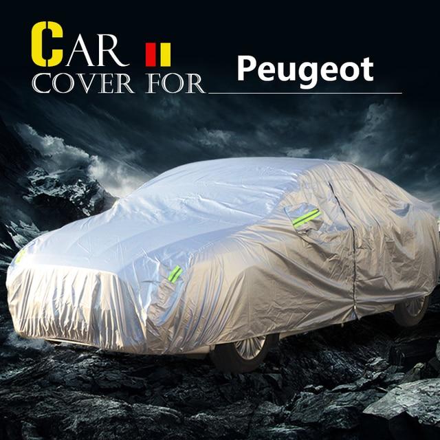 Car Cover For Peugeot 407 5008 607 807 RCZ 301 Vehicle Anti-UV Sun Shade Rain Snow Resistant Cover Waterproof Dustproof