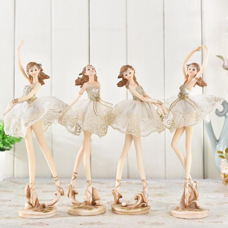 Resin ballet dancer girl decoration Nordic style living room character desktop ornament beautiful shape