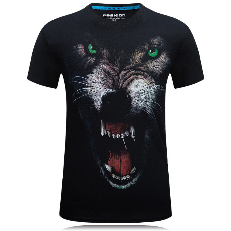2019 New fashion King of the Forest Lion 3D print T-shirt Men Sleeve Casual Male Wonder T-shirt Tops Dropship Tee Shirt Homme 1