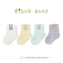 Niduo Bear 4 pairs Baby Socks Summer Mesh Thin for Girls Cotton Newborn Boy Toddler Clothes Accessories