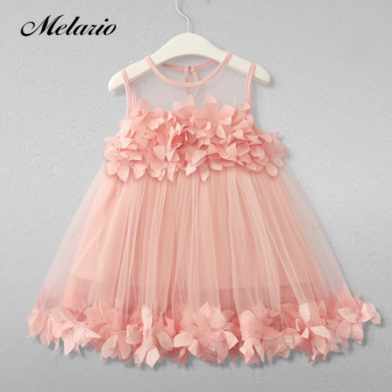 Melario Girls Dresses 2019 Sweet Princess Dress Baby Kids Girls - Մանկական հագուստ