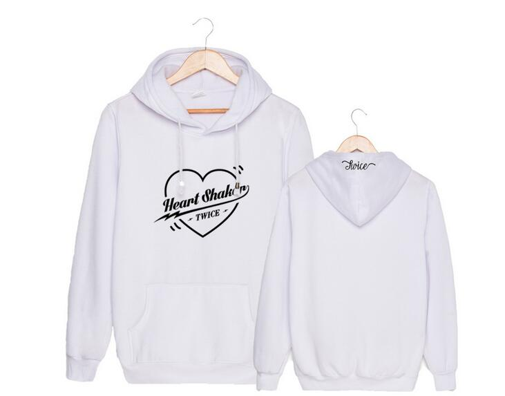 KPOP TWICE Hoodie Merry/&Happy Ablum Pullover Heart Shaker Casual Letter Tops