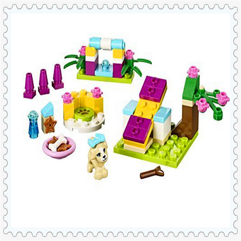 Friends Series Puppy Training Model Building Block Toys Compatible Legoe BELA 10532 65Pcs DIY Educational  Gift For Children sluban 0372 block compatible legoe aviation city aircraft repair shop model 596pcs educational building toys for children