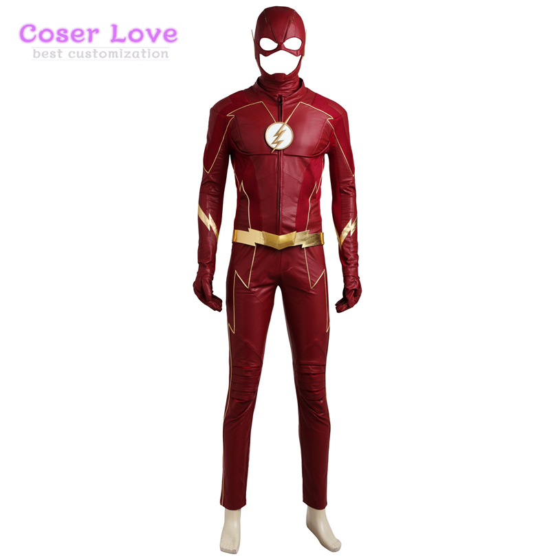 The Flash Season 4 Barry Allen Cosplay Carnaval Costume and shoes For Halloween Christmas Cosplay Costume