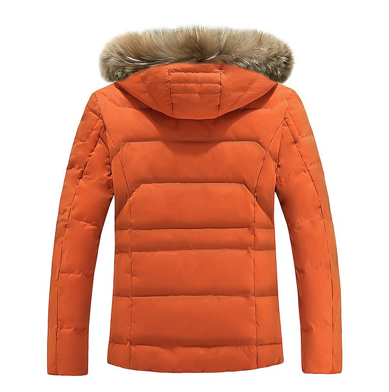 GenericMen Fashion Winter Long Thick Puffer Jacket Silm Coat with Hood