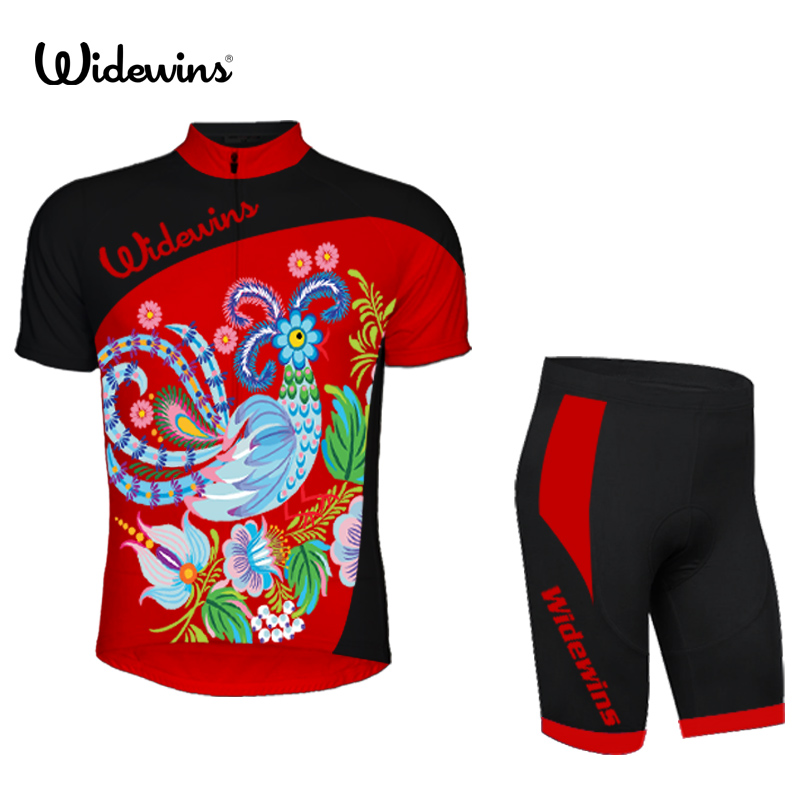 2017 TEAM Flower Ropa Ciclismo Cycling Jersey Bike Bicycle Wear with bib pants Gel padding mtb cycling clothing 5474